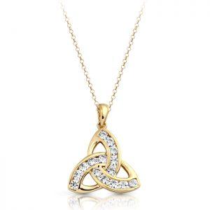 9ct Gold Celtic Pendant-P012