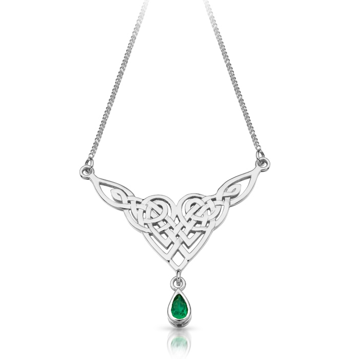 Silver Celtic Pendant Necklace incorporating traditional Celtic knots - SP035G