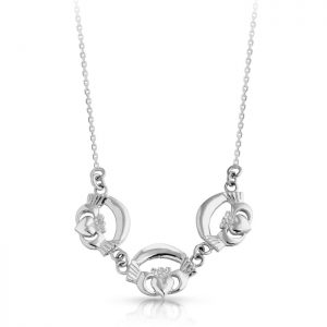Silver Claddagh Pendant-SP02
