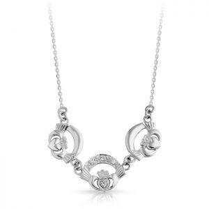 Silver Claddagh Pendant-SP03