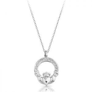 Silver Claddagh Pendant-SP014S