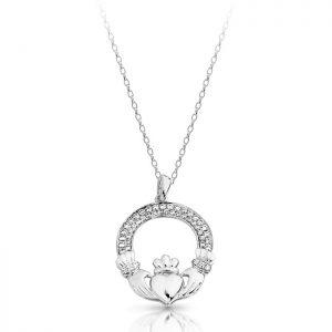 Silver Claddagh Pendant-SP018S