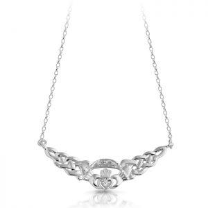 Silver Claddagh Pendant-SP01