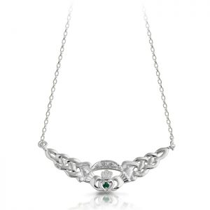 Silver Claddagh Pendant-SP01G