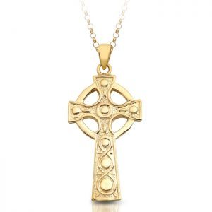 Gold Celtic Cross - C136