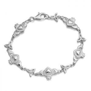 Silver Claddagh Bracelet-SCLB32