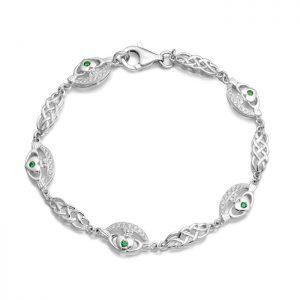 Silver Claddagh Bracelet - SCLB35