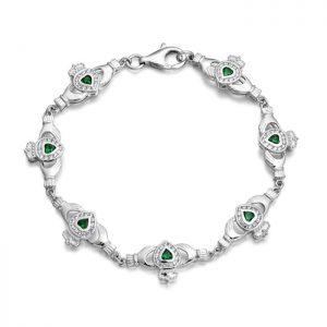 Silver Claddagh Bracelet - SCLB38