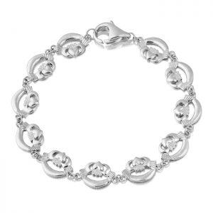 Silver Claddagh Bracelet-SCLB4