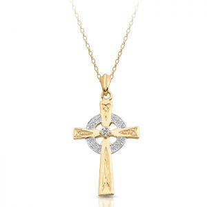 9ct Gold Celtic Cross - C111