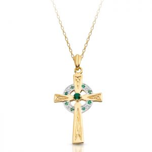 9ct Gold Celtic Cross - C111G