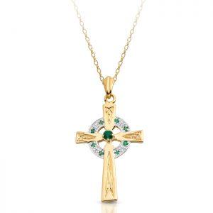 9ct Gold Celtic Cross - C111G