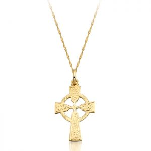 9ct Gold Celtic Cross - C112