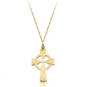 9ct Gold Celtic Cross - C112