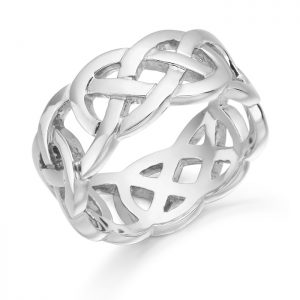 Silver Celtic Wedding Ring-S1519