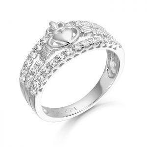 Silver Claddagh Ring-SCL31
