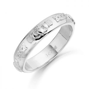 Silver Claddagh Wedding Ring-SCL41