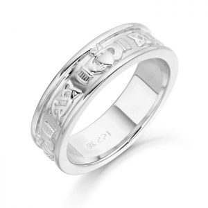 Silver Claddagh Wedding Ring-SCL42