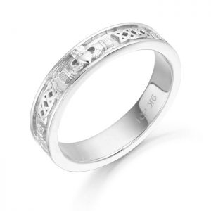 Silver Claddagh Wedding Ring-SCL43