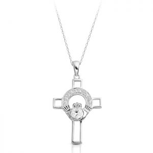Silver Claddagh Cross-SC125