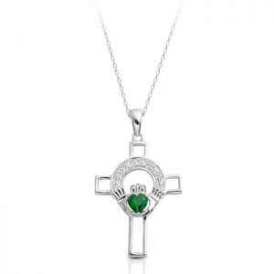 Silver Claddagh Cross-SC125G