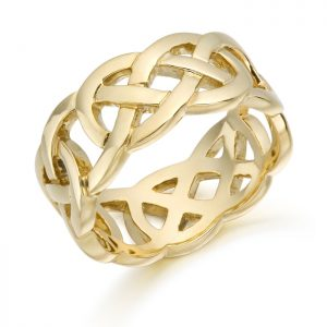 Gold Celtic Wedding Band-1519