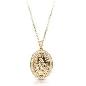9K Gold Miraculous Medal-M1