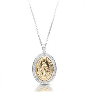 9K Gold Miraculous Medal-M1W