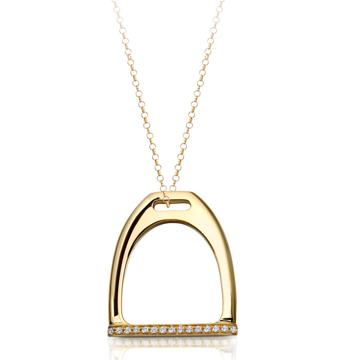 9ct Gold Stirrup Pendant - P19