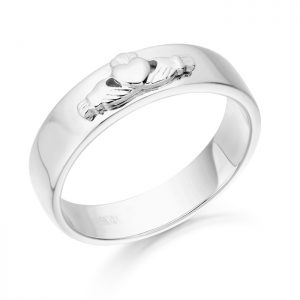 Claddagh Wedding Band-CL22W