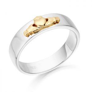 Claddagh Wedding Band-CL22WY