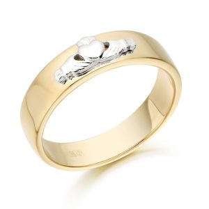 Claddagh Wedding Band-CL22YW