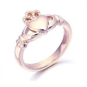 Rose Gold Claddagh Ring-CL2R