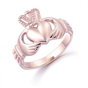 Rose Gold Claddagh Ring-CL7R