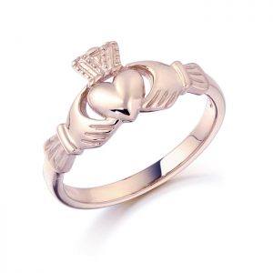 Rose Gold Claddagh Ring-CL8R