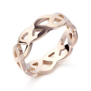 Rose Gold Celtic Wedding Band-1518R
