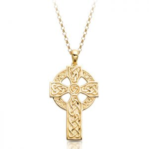 9ct Gold Celtic Cross - C09