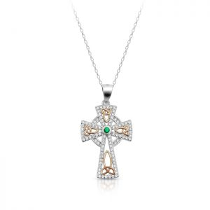 Silver CZ Celtic Cross-SC81