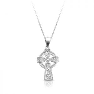 Silver CZ Celtic Cross-SC83