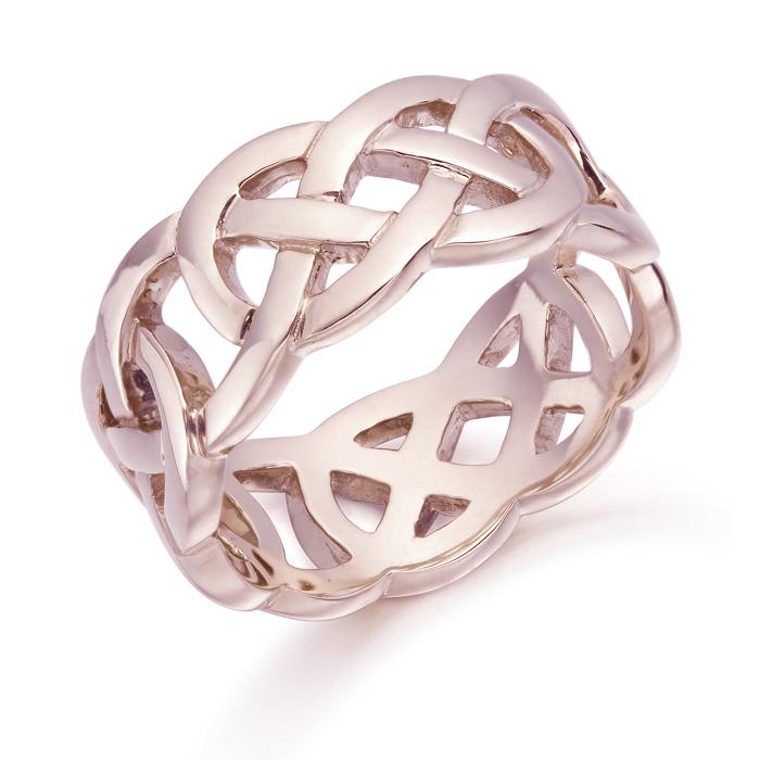 9ct Rose Gold Celtic Wedding Ring - 1519R