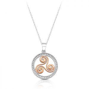 Silver Triskele Celtic Pendant-SP81