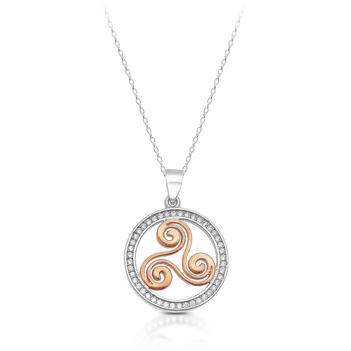 Silver Triskele Celtic Pendant - SP81