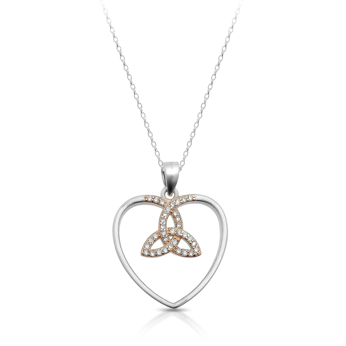 Silver Trinity Knot Celtic Pendant-SP85