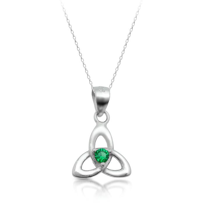 Silver Trinity Knot Celtic Pendant-SP86