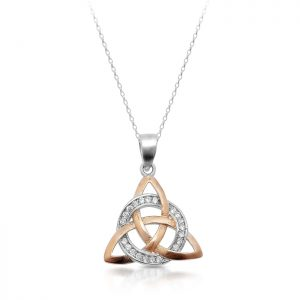 Silver Trinity Knot Celtic Pendant-SP88