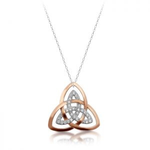 Silver Trinity Knot Celtic Pendant-SP89