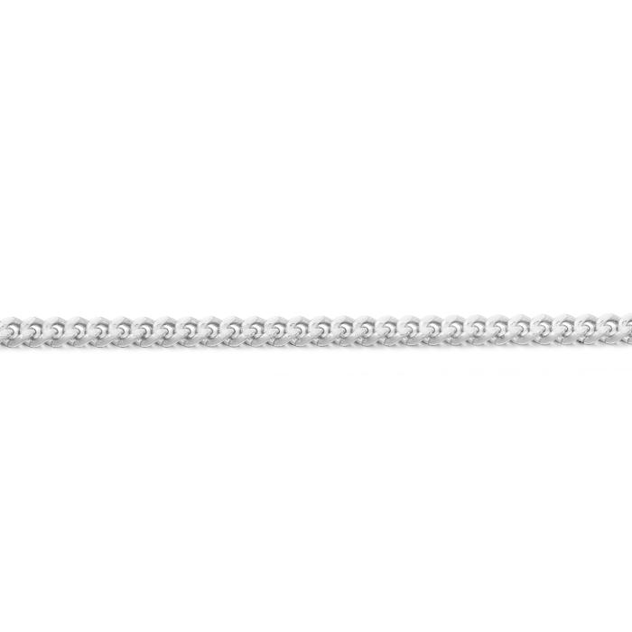 9ct White Gold Curb Chain - DC40W