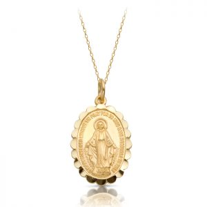 9K Gold Miraculous Medal-MM11