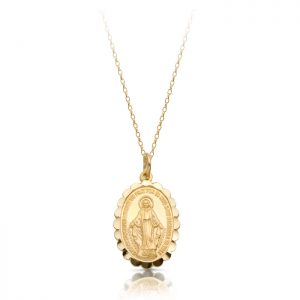9K Gold Miraculous Medal-MM13