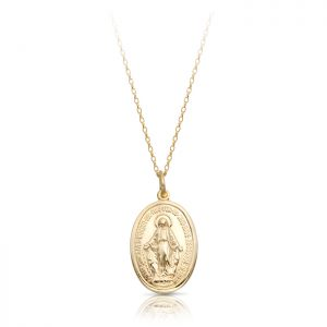 9K Gold Miraculous Medal-MM14